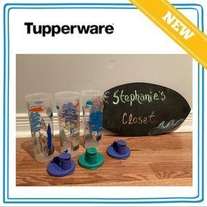 NEW Summer Tupperware Flip top tumblers (set of 3)